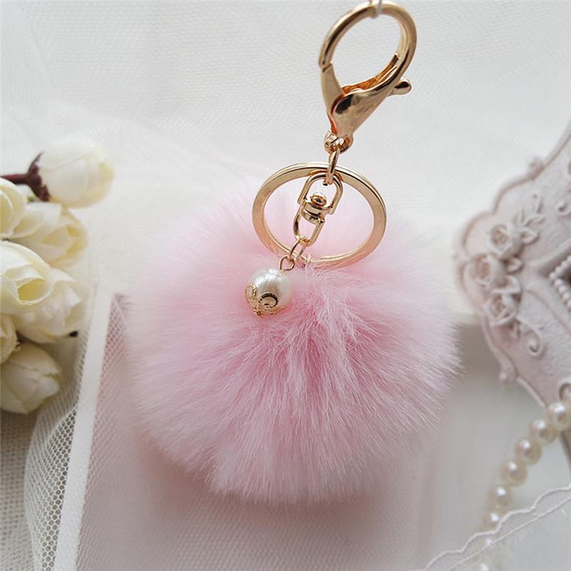 33ad85dcf Prívesok na kľúče, chlpatá kľúčenka 8 cm - ružová | TrendyVeci