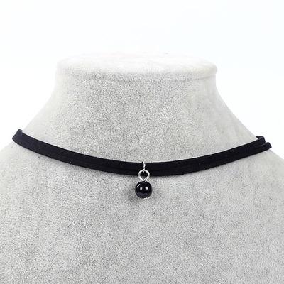9ea652b2b Čierny choker náhrdelník - čierna perla | TrendyVeci