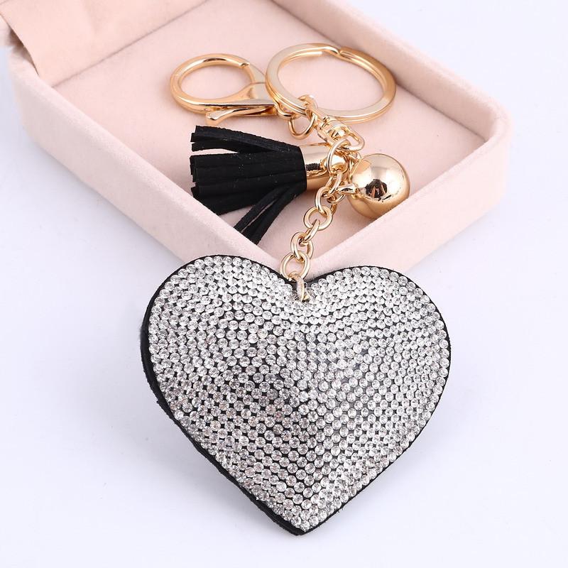 c9f054a02 Trendový prívesok na kľúče Srdce - čierny | TrendyVeci
