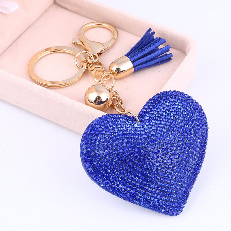 Trendový prívesok na kľúče Srdce - modrý  48298888f20