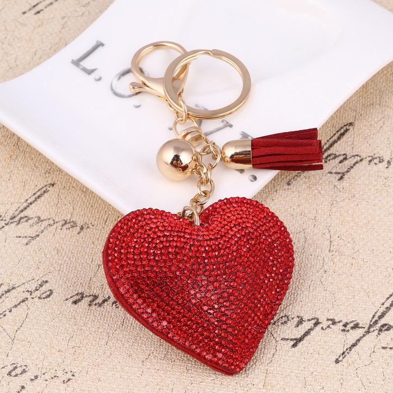 Trendový prívesok na kľúče Srdce - červený  259ead15a72
