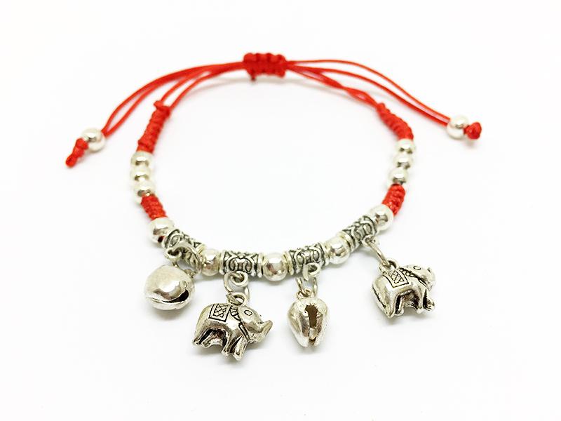 Ručne pletený kabbalah náramok - slony  3fa04ec4caa