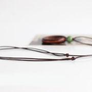 Trendový vintage náhrdelník s veľkými kruhmi a korálkou-3