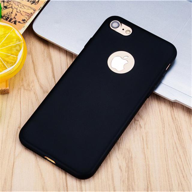 Mäkký farebný silikónový kryt s výrezom na iPhone 7 - rôzne farby ... e6d5ed003e7